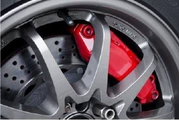 Brakes, wheels and caliper