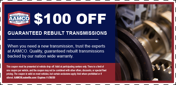 Image of $100 off Transmission Rebuild Repairs Coupon