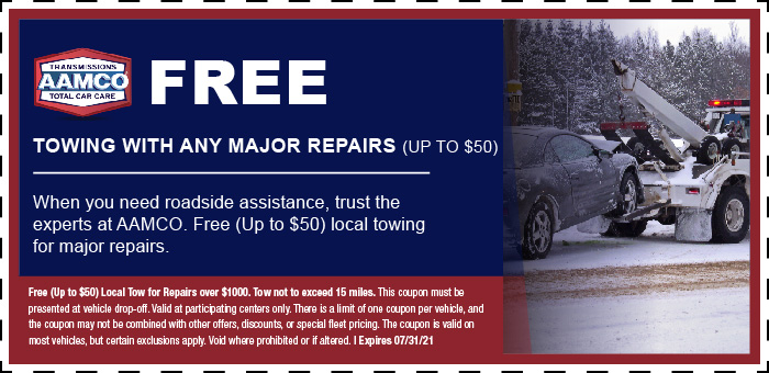 Image of Free Towing With Major Repair Coupon Coupon